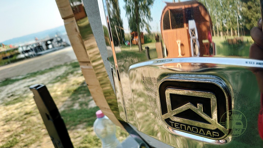 Külső fűtés a Finn Mobilszauna kabinjában
